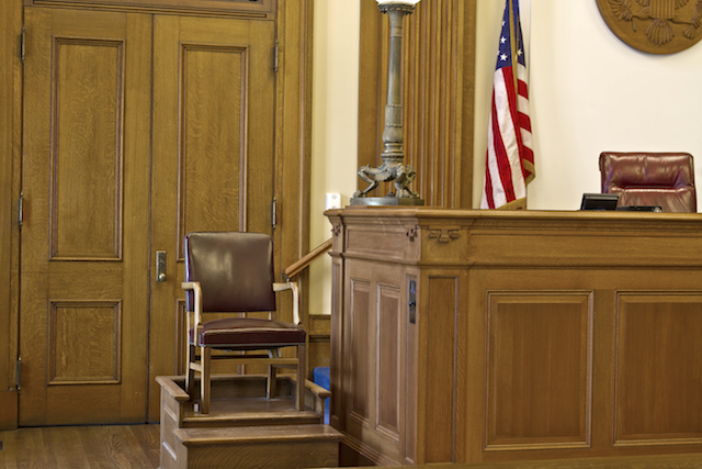 Courtroom Witness Stand Chair in Pioneer Courthouse