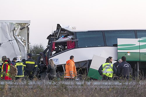 22 Injured in a Bus Crash this Morning in Las Vegas