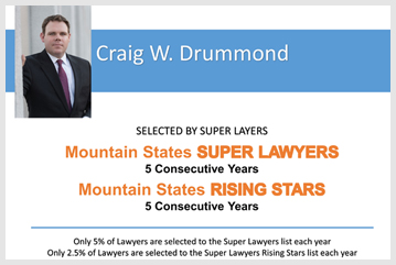 Rising Star Craig Drummond Named To Top Lawyers List 5 Years In A Row!