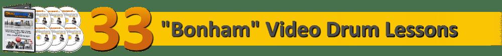 33 John Bonham Famous Drum Beat, Fill & Solo Video Lessons