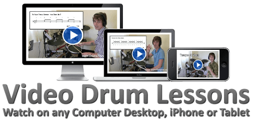 MP4 Video Drum Lessons