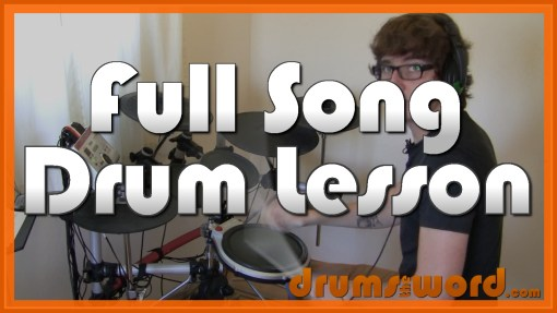 """All My Life"" - (Foo Fighters) Full-Song Video Drum Lesson Notation Chart Transcription Sheet Music Drum Lesson"
