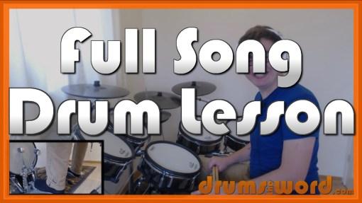 """Always"" - (Blink 182) Full-Song Video Drum Lesson Notation Chart Transcription Sheet Music Drum Lesson"