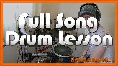 """""""Go With The Flow"""" - (Queens Of The Stone Age) Full-Song Video Drum Lesson Notation Chart Transcription Sheet Music Drum Lesson"""