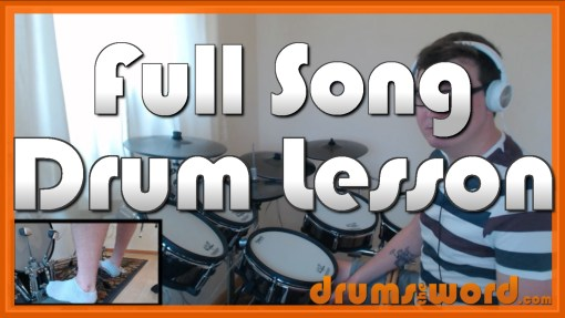 """Nice To Know You"" - (Incubus) Full-Song Video Drum Lesson Notation Chart Transcription Sheet Music Drum Lesson"
