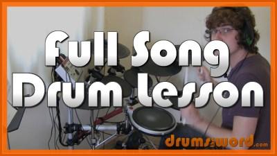 """Nothing Else Matters"" - (Metallica) Full-Song Video Drum Lesson Notation Chart Transcription Sheet Music Drum Lesson"