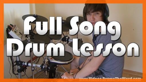 """""""Smells Like Teen Spirit"""" - (Nirvana) Full-Song Video Drum Lesson Notation Chart Transcription Sheet Music Drum Lesson"""