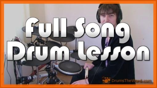 """Sunshine Of Your Love"" - (Cream) Full-Song Video Drum Lesson Notation Chart Transcription Sheet Music Drum Lesson"