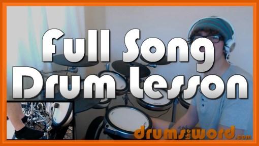 """That Golden Rule"" - (Biffy Clyro) Full-Song Video Drum Lesson Notation Chart Transcription Sheet Music Drum Lesson"