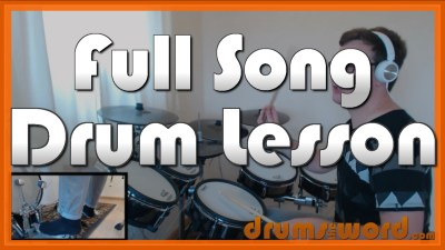 """Welcome To The Black Parade"" - (My Chemical Romance) Full-Song Video Drum Lesson Notation Chart Transcription Sheet Music Drum Lesson"