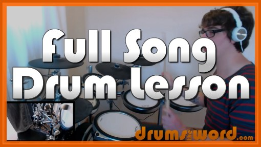 """Today"" - (Smashing Pumpkins) Full-Song Video Drum Lesson Notation Chart Transcription Sheet Music Drum Lesson"