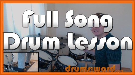 """""""We Are The Champions"""" - (Queen) Full-Song Video Drum Lesson Notation Chart Transcription Sheet Music Drum Lesson"""
