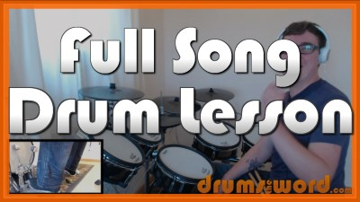 """Welcome To Paradise"" - (Green Day) Full-Song Video Drum Lesson Notation Chart Transcription Sheet Music Drum Lesson"