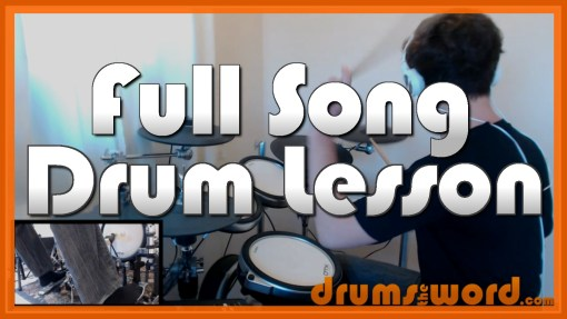 """Zombie"" - (The Cranberries) Full-Song Video Drum Lesson Notation Chart Transcription Sheet Music Drum Lesson"