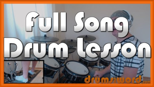 """Buddy Holly"" - (Weezer) Full-Song Video Drum Lesson Notation Chart Transcription Sheet Music Drum Lesson"
