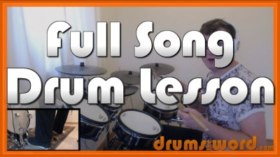 """Live Forever"" - (Oasis) Full-Song Video Drum Lesson Notation Chart Transcription Sheet Music Drum Lesson"