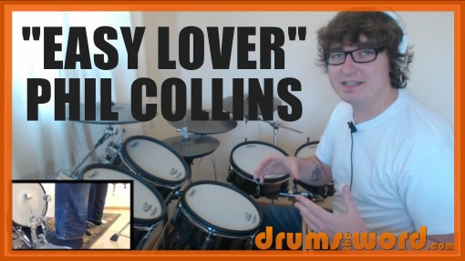 """""""Easy Lover"""" - (Phil Collins) Full-Song Video Drum Lesson Notation Chart Transcription Sheet Music Drum Lesson"""