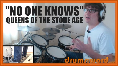 """No One Knows"" - (Queens Of The Stone Age) Full-Song Video Drum Lesson Notation Chart Transcription Sheet Music Drum Lesson"