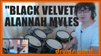 """Black Velvet"" - (Alannah Myles) Full-Song Video Drum Lesson Notation Chart Transcription Sheet Music Drum Lesson"