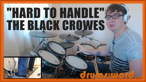 """""""Hard To Handle"""" - (The Black Crowes) Full-Song Video Drum Lesson Notation Chart Transcription Sheet Music Drum Lesson"""