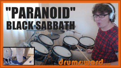 """Paranoid"" - (Black Sabbath) Full-Song Video Drum Lesson Notation Chart Transcription Sheet Music Drum Lesson"