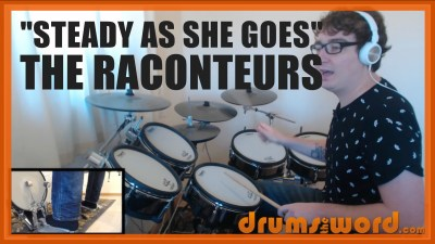 """Steady As She Goes"" - (The Raconteurs) Full-Song Video Drum Lesson Notation Chart Transcription Sheet Music Drum Lesson"