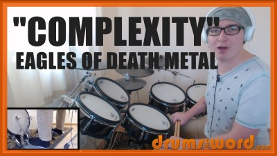 """Complexity"" - (Eagles Of Death Metal) Full-Song Video Drum Lesson Notation Chart Transcription Sheet Music Drum Lesson"