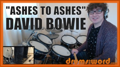"""Ashes To Ashes"" - (David Bowie) Full-Song Video Drum Lesson Notation Chart Transcription Sheet Music Drum Lesson"