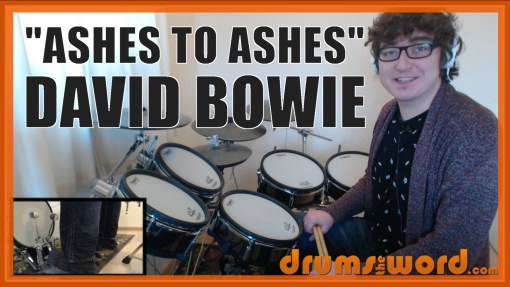 """""""Ashes To Ashes"""" - (David Bowie) Full-Song Video Drum Lesson Notation Chart Transcription Sheet Music Drum Lesson"""