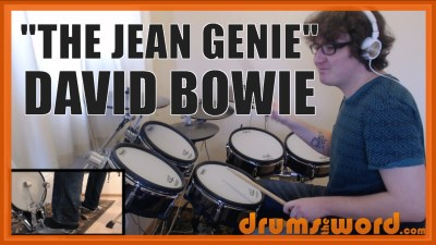 """The Jean Genie"" - (David Bowie) Full-Song Video Drum Lesson Notation Chart Transcription Sheet Music Drum Lesson"