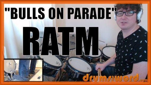 """""""Bulls On Parade"""" - (Rage Against The Machine) Full-Song Video Drum Lesson Notation Chart Transcription Sheet Music Drum Lesson"""