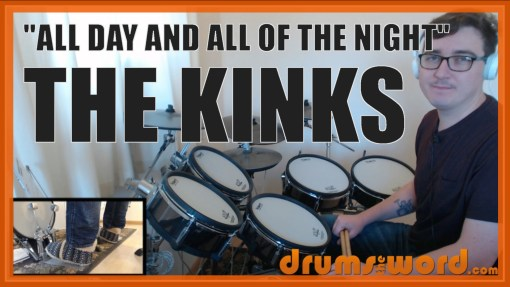"""All Day And All Of The Night"" - (The Kinks) Full-Song Video Drum Lesson Notation Chart Transcription Sheet Music Drum Lesson"
