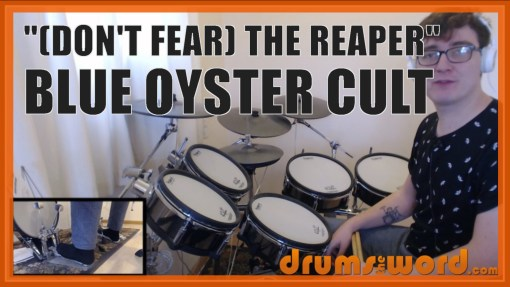 """Don't Fear The Reaper"" - (Blue Oyster Cult) Full-Song Video Drum Lesson Notation Chart Transcription Sheet Music Drum Lesson"