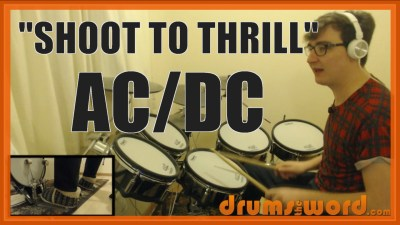"""Shoot To Thrill"" - (AC/DC) Full-Song Video Drum Lesson Notation Chart Transcription Sheet Music Drum Lesson"