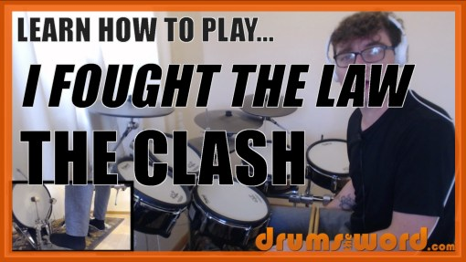 """""""I Fought The Law"""" - (The Clash) Full-Song Video Drum Lesson Notation Chart Transcription Sheet Music Drum Lesson"""