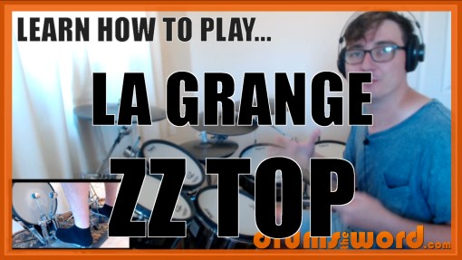 """La Grange"" - (ZZ Top) Full-Song Video Drum Lesson Notation Chart Transcription Sheet Music Drum Lesson"