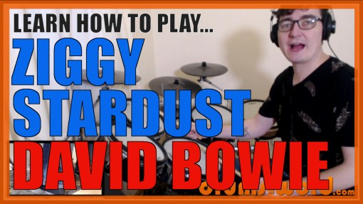 """Ziggy Stardust"" - (David Bowie) Full-Song Video Drum Lesson Notation Chart Transcription Sheet Music Drum Lesson"