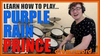 """Purple Rain"" - (Prince) Full-Song Video Drum Lesson Notation Chart Transcription Sheet Music Drum Lesson"