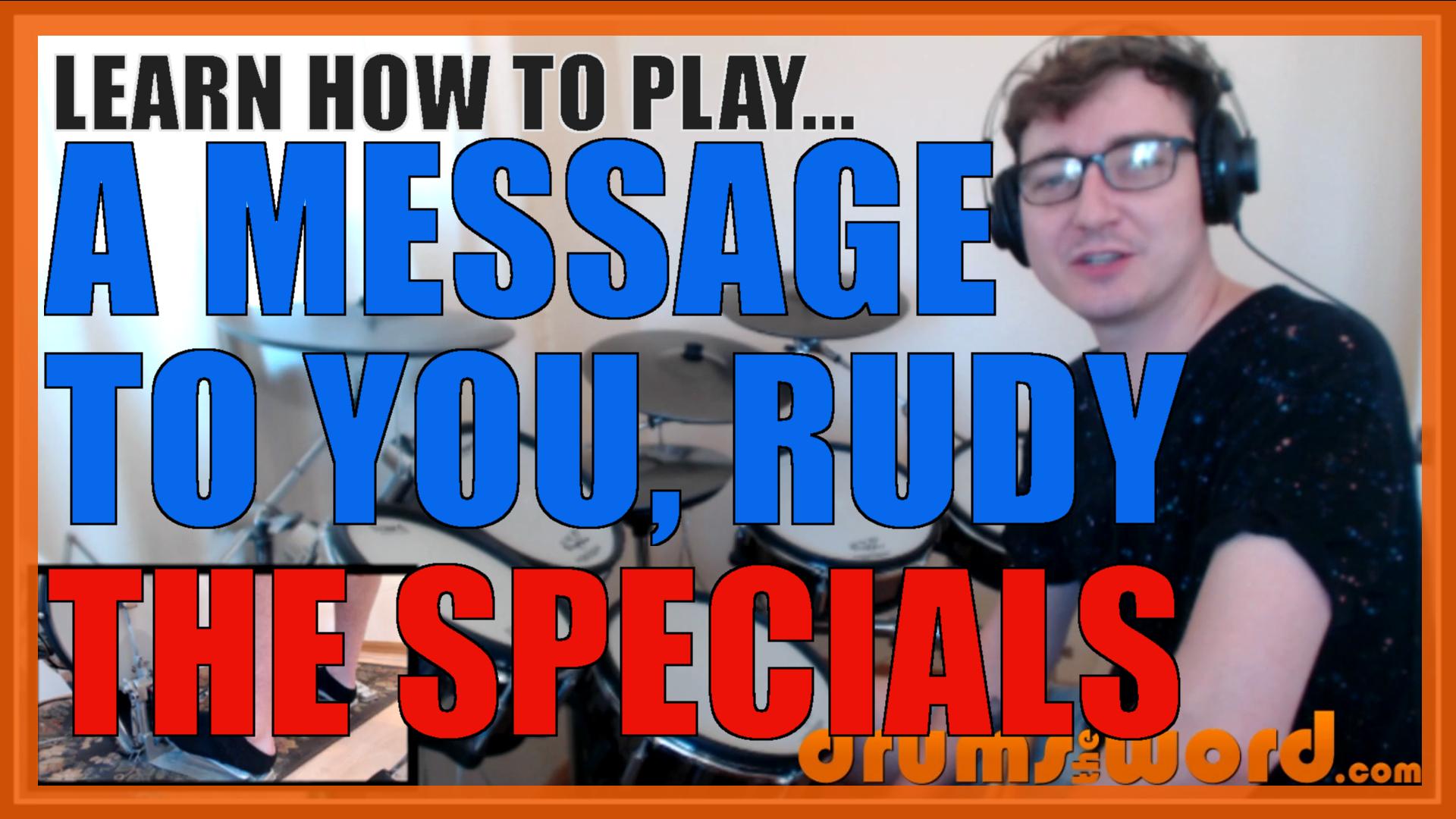 A Message To You Rudy The Specials John Bradbury