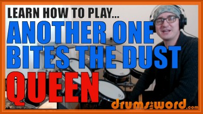 """Another One Bites The Dust"" - (Queen) Full-Song Video Drum Lesson Notation Chart Transcription Sheet Music Drum Lesson"