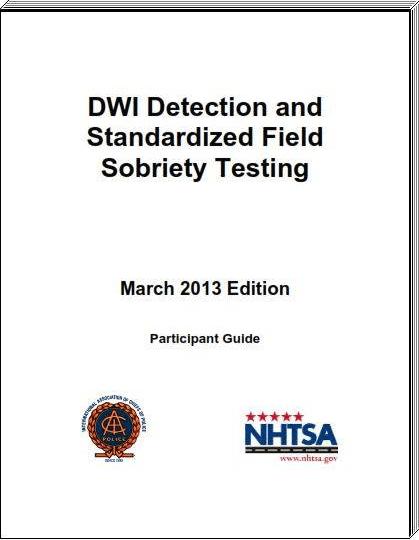 2006 NHTSA SFST MANUAL PDF