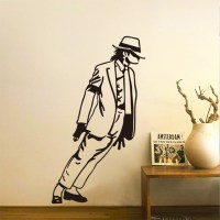 Leaning Michael Jackson Wall Decal | drunkMall
