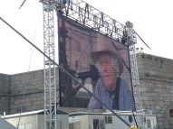 Ramblin' Jack Elliott on the monitor