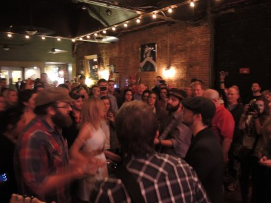Drew Holcomb and the Neighbors in the crowd