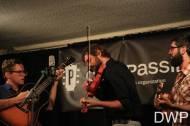 Trent Wagler (guitar), Eric Brubaker (fiddle), and Jay Lapp (mandolin)
