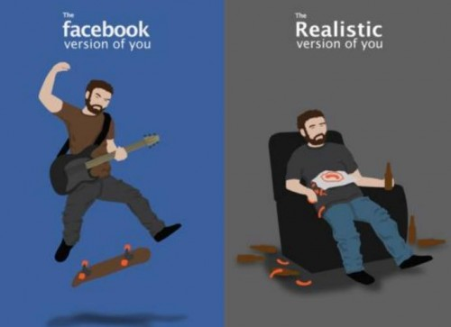 facebook vs realistic versions of you