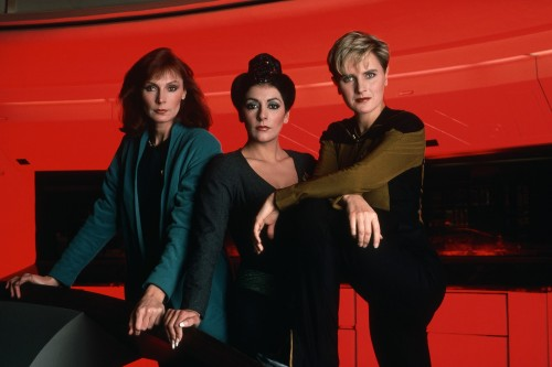 star trek the next generation left to right gates mcfadden as dr crusher marina sirtis as counsellor deanna troi and denise crosby as security chief tasha yar 500x333 star trek the next generation   left to right   gates mcfadden as dr crusher   marina sirtis as counsellor deanna troi and denise crosby as security chief tasha yar