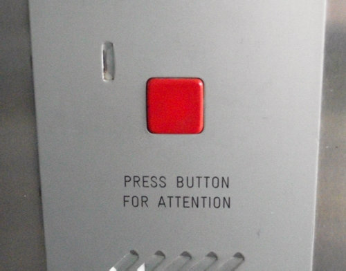 press button for attention press button for attention