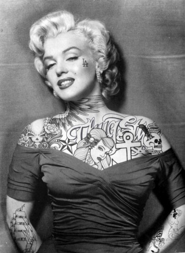 marilyn monroe all inked up 365x500 marilyn monroe all inked up
