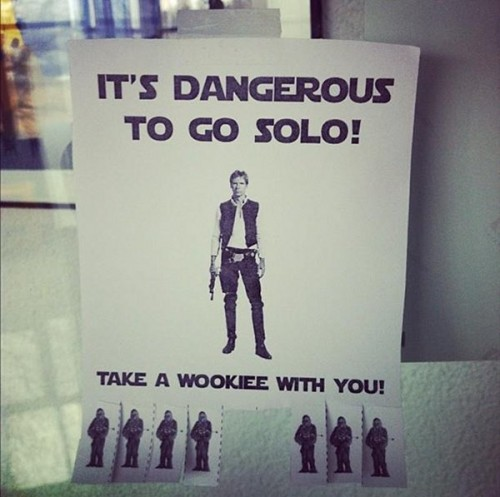 its dangerous to go solo tak ea wookiee with you 500x497 its dangerous to go solo   tak ea wookiee with you